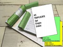 A5 Triplicate - 3 part (3pt) Single Sided